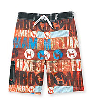 Mambo® Boy' 8-20 Red Mambo Side Pocket Board Shorts