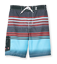 Mambo® Boys' 8-20 Blue Hip Stripe Side Pocket Board Shorts
