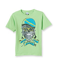Mambo® Boys' 8-20 Lime Short Sleeve Metal Graphic Tee