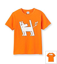 Mambo® Boys' 8-20 Orange Short Sleeve Dog Graphic Tee