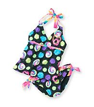 Mambo® Girls' 4-16 Tie Dye 2-pc. Dot Tankini