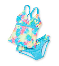 Mambo® Girls' 4-16 Neon 2-pc. Groovy Love Tankini