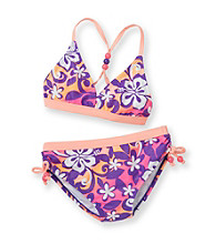 Mambo® Girls' 7-16 Orange 2-pc. Surf's Up Bikini