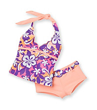 Mambo® Girls' 4-6X Orange 2-pc. Surf's Up Tankini