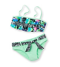 Mambo® Girls' 7-16 Green 2-pc. Surfin' Safari Bikini