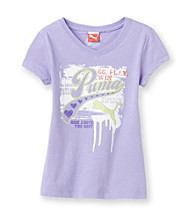 PUMA® Girls' 2T-16 Side Logo Tee