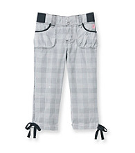 Mambo® Girls' 7-16 Black Plaid Woven Utility Capris