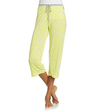 DKNY® Knit Capris - Lime Dot