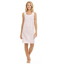 Aria® Knit Sleeveless Short Gown - Pink Daisy
