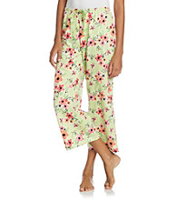 HUE® Knit Capris - Life in Flowers