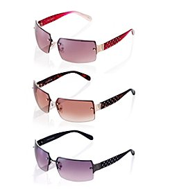 Steve Madden Rectangle Rimless Sunglasses