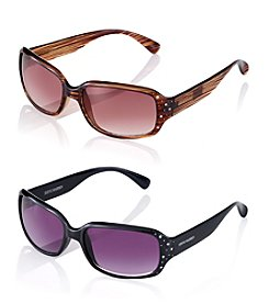 Steve Madden Rhinestone Square Sunglasses