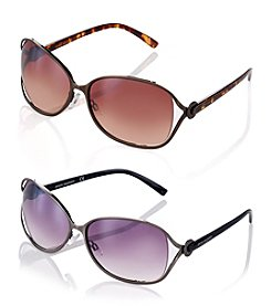 Steve Madden Stitched Sunglasses