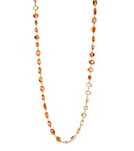 Kenneth Cole® Orange Multi Faceted Bead Long Necklace