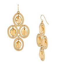 Kenneth Cole® Topaz Faceted Bead Kite Earrings