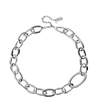 Kenneth Cole® Silvertone Oval Link Necklace