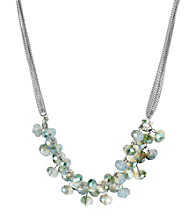 Kenneth Cole® Green Faceted Bead Frontal Necklace