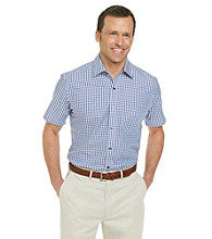 Kenneth Roberts Platinum® Men's Purple Short Sleeve Gingham Woven Shirt