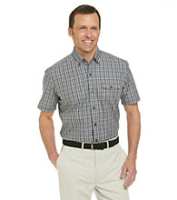 Kenneth Roberts Platinum® Men's Charcoal Short Sleeve Mini Check Woven Shirt