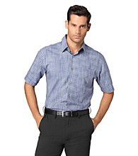 Van Heusen® Men's Melange Check Textured Woven Top