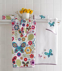 Kassatex Butterflies Bath Towel Collection