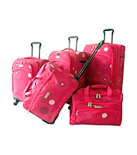 K. Rose Pink Fireworks Luggage Collection