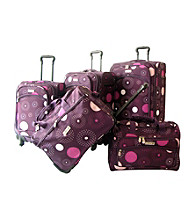 K. Rose Purple Fireworks Luggage Collection