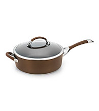 Circulon® Symmetry Chocolate 5-qt. Covered Saute Pan with Helper Handle