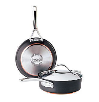 Anolon® 3-pc. Black Covered Sauteuse and Skillet Cookware Set + Get This FREE see offer details