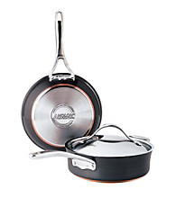 Anolon® 3-pc. Black Covered Sauteuse and Skillet Cookware Set