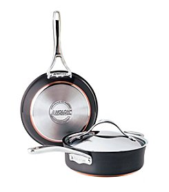 Anolon® 3-pc. Black Covered Sauteuse and Skillet Cookware Set + GET THIS FREE! see offer details