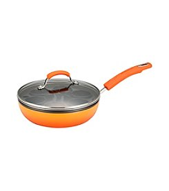 Rachael Ray® Porcelain II Orange Egg Poacher Plus