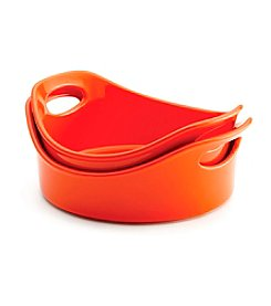 Rachael Ray® Stoneware Orange Open Bakers