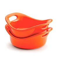 Rachael Ray® Stoneware 2-pc. Orange Round au Gratin Pan