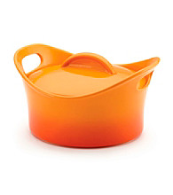 Rachael Ray® Stoneware 2.75-qt. Orange Round Covered Casserole