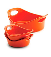 Rachael Ray® Stoneware 3-pc. Orange Small Round Set