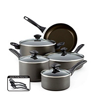 Farberware® 12-pc. Charcoal Dishwasher Safe Nonstick Cookware Set