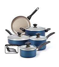 Farberware® 12-pc. Blue Dishwasher Safe Nonstick Cookware Set