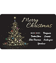 Gift Card - Merry Christmas - Lighted Tree