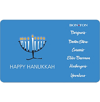 Gift Card - Happy Hanukkah - Menorah