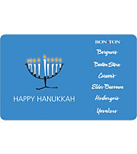 Gift Card - Happy Hanukkah - Menorah