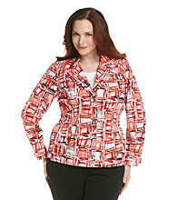 Laura Ashley® Plus Size Multi Blazer