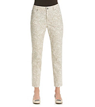 Laura Ashley® Lace Print Ankle Jean