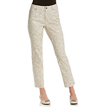Laura Ashley® Petite's Lace Print Ankle Jean