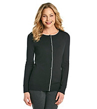 Evan-Picone® Tipped Cardigan Sweater
