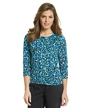 Relativity® Career Petite's Printed Cardigan