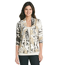 Relativity® Career Open Printed Cardigan