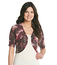 Relativity® Career Dolman Sequin-Front Shrug