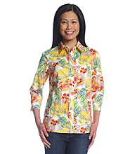 Breckenridge Tropical Printed Jaquard Shirt
