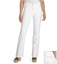 Levi's White 512 Slimming Boot Cut Jean